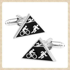 Other - Triathlon Triangle Cufflinks